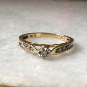 Vintage 10k diamond engagement ring sz 7